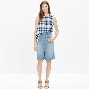 Madewell Medium Wash Blue Denim Mini Jean Skirt 31